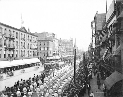 A Labor Day Parade in Buffalo, New York in 1900