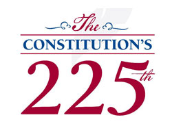 Constitution's 225th logo