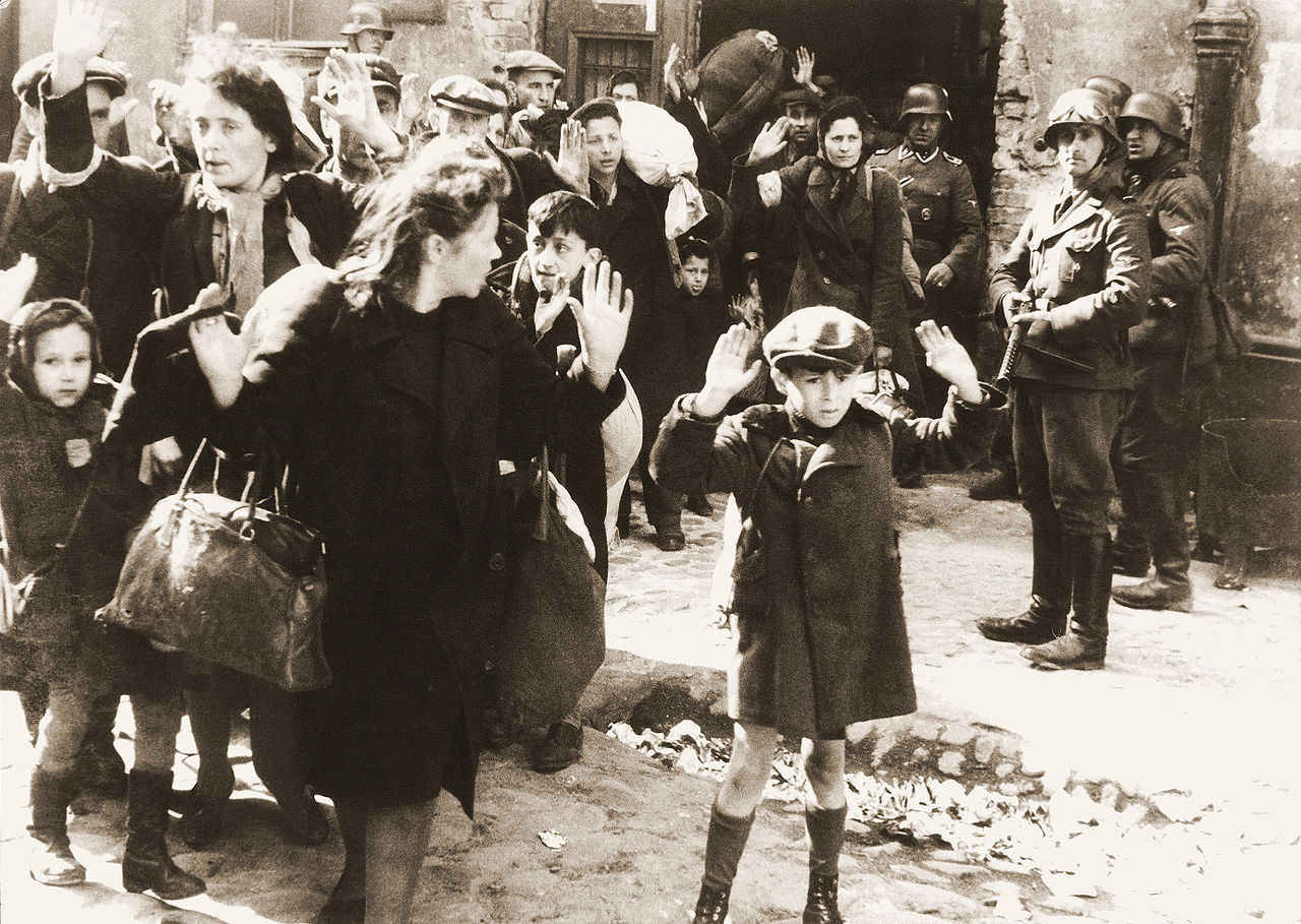 Image of Jews Captured by Germans, found at http://en.wikipedia.org/wiki/The_Holocaust#mediaviewer/File:Stroop_Report_-_Warsaw_Ghetto_Uprising_06b.jpg