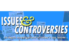 Logo for Issues and Controversies database.