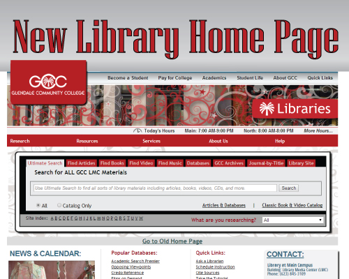 New Home Page For The Gcc Library Gcc Library News
