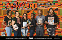 Black Student Union (BSU) holding books of thier interest.